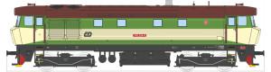 Motorová lokomotiva řady 749, ČD, zelená/béžová, V. epocha, TT, Kuehn 33418