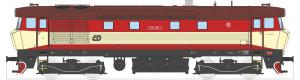 Motorová lokomotiva řady 749, ČD, červená/béžová, V. epocha, TT, Kuehn 33422