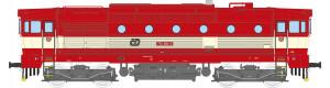 Motorová lokomotiva řady 753, ČD, červená/slonová kost, V. epocha, TT, Kuehn 33360
