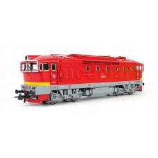 Motorová lokomotiva T 478.3210, červená s úzkým žlutým proužkem, ČSD, zvuková verze, IV. epocha, H0, Roco 72947