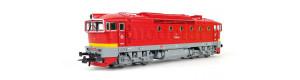 Motorová lokomotiva T 478.3210, červená s úzkým žlutým proužkem, ČSD, DCC, IV. epocha, H0, Roco 72946