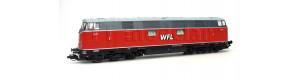 Motorová lokomotiva 228 501-3 Wedler & Franz Lokomotivdienstleistungen GbR, VI. epocha, TT, Tillig 02698