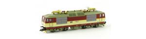 Elektrická lokomotiva řady 371, červená/slonová kost, ČD, V. epocha, TT, Kuehn 32932