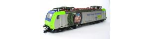 """Elektrická lokomotiva řady 485 BLS Cargo, """"Alpinisten"""", V. epocha, jednorázová výroba, TT, Kuehn 32330"""