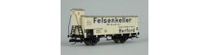 "Izotermický vůz ""Felsenkeller Brauerei Herford"", DRG, II. epocha, TT, Tillig 17924"