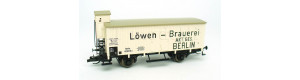 """Izotermický vůz A2 """"Löwen-Brauerei"""", K.P.E.V., I. epocha, TT, limitovaná série, Tillig 501766"""