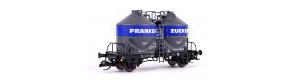 """Nádobový vůz na cement Ucs 909 """"Frankenzucker GmbH"""", DB, IV. epocha, TT, Tillig 17769"""