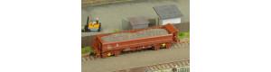 Náklad hrubého šedohnědého štěrku do vozu Fakks Busch, TT, DOPRODEJ, TTMSterk001