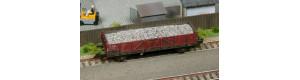 Náklad hrubého šedého štěrku do vozu Vt Schirmer, TT, DOPRODEJ, TTMSterk104