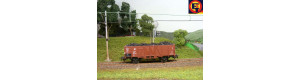 Náklad uhlí do vozu Vtu/Omu (Piko), H0, ES Pečky 29601