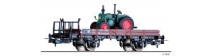 Nízkostěnný vůz řady X05 s nákladem traktoru Lanz-Bulldog, DB, III. epocha, H0, Tillig 76739