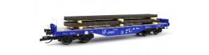 Plošinový nákladní vůz Sgmmns 4505, ERR, s nákladem traverz, VI. epocha, TT, Tillig 15156