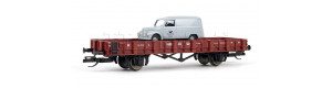 "Klanicový vůz, DR, ložený automobilem Framo ""Deutsche Post"", III. epocha, TT, model Galerie Tillig 2021, Tillig 501994"