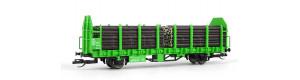 Klanicový vůz Laaps, s nákladem, DB AG, START, VI. epocha, TT, Tillig 502134-2