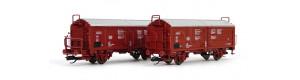 Set dvou nákladních vozů Tims 858 s posuvnou střechou, DB, IV. epocha, TT, Tillig 01020
