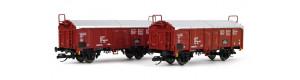 Set dvou nákladních vozů Tims 5756 s posuvnou střechou, DR, IV. epocha, TT, Tillig 01033