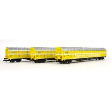 Set tří vozů Habbiillnss, Schweizer Post, VI. epocha, TT, Tillig 01038