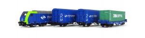 Základní sada TT s nákladním vlakem a motorovou lokomotivou TRAXX , PKP Cargo, VI. epocha, TT, Tillig 01400