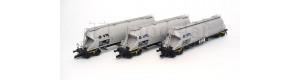 Set nákladních vozů na sypké hmoty, VTG AG, VI. epocha, TT, Tillig 01820