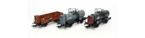 Set tří nákladních vozů BDZ, JDZ a ČSD, II. epocha, H0, Tillig 70047