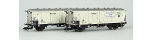 """Set dvou chladicích vozů Icfrs """"Interfrigo"""" pro trajektovou přepravu, DR, III. epocha, TT, Arnold HN9724"""
