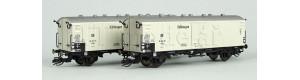 """Set dvou chladicích vozů Tnbs """"Seefische"""" pro trajektovou přepravu, DR, III. epocha, TT, Arnold HN9725"""