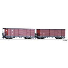 Set dvou krytých vozů, DR, III. epocha, H0e, Tillig 05941