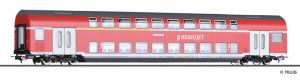 Čtyřnápravový patrový osobní vůz 1./2. třídy DABz755, REGIOJET, VI. epocha, H0, Tillig 73817