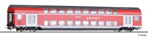 Čtyřnápravový patrový osobní vůz 2. třídy DBz750, REGIOJET, VI. epocha, H0, Tillig 73818