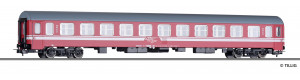 Čtyřnápravový osobní vůz 2. třídy Bmee typu Bautzen, CFR, V. epocha, H0, Tillig 74954
