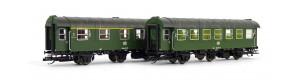 Set dvou osobních vozů 1./2 a 2. třídy, DB, IV. epocha, TT, Tillig 01015