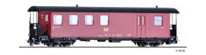 Úzkorozchodný zavazadlový vůz KBD, červený, HSB, V.-VI. epocha, H0m, Tillig 13941