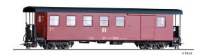 Úzkorozchodný zavazadlový vůz KBD4i, červený, DR, IV. epocha, H0e, Tillig 03946