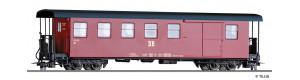 Úzkorozchodný zavazadlový vůz KBD4i, červený, DR, IV. epocha, H0m, Tillig 13946