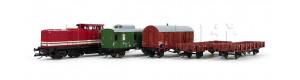 Digitální základní set s nákladním vlakem a motorovou lokomotivou řady 110, DR, IV. epocha, TT, Tillig 01208