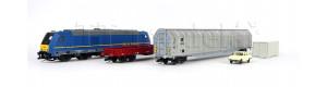 Základní sada TT s nákladním vlakem a motorovou lokomotivou TRAXX, MÁV, VI. epocha, TT, Tillig 01438