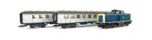 Set osobního vlaku s lokomotivou BR 112 a dvěma osobními vozy, DB, IV. epocha, TT, Tillig 01443