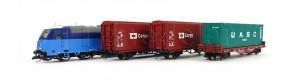 Základní sada TT s nákladním vlakem a motorovou lokomotivou TRAXX , ČD Cargo, VI. epocha, TT, Tillig 01449