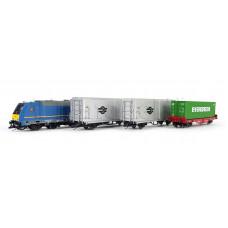 Základní sada TT s nákladním vlakem a motorovou lokomotivou TRAXX , MÁV, VI. epocha, TT, Tillig 01500