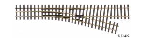 Odbočka úzkorozchodné tratě, pravá, H0/H0e, Tillig 85181