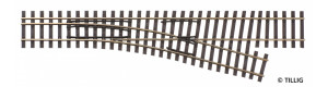 Odbočka úzkorozchodné tratě, pravá, H0/H0m, Tillig 85183