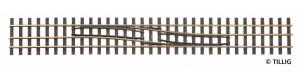 Splítka se změnou strany zleva doprava, 228 mm, H0/H0e, Tillig 85185