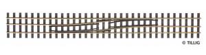 Splítka se změnou strany zprava doleva, 228 mm, H0/H0e, Tillig 85186