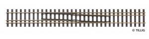 Splítka se změnou strany zleva doprava, 228 mm, H0/H0m, Tillig 85187