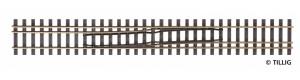 Splítka se změnou strany zprava doleva, 228 mm, H0/H0m, Tillig 85188
