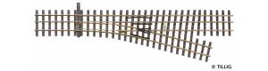 Tříkolejnicová výhybka úzkorozchodné tratě, pravá, H0/H0e, Tillig 85191