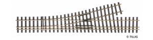 Tříkolejnicová výhybka úzkorozchodné tratě, levá, H0/H0m, Tillig 85194