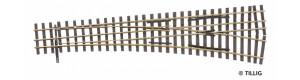 Tříkolejnicová výhybka úzkorozchodné tratě, pravá, H0/H0e, Tillig 85195