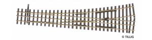 Tříkolejnicová výhybka úzkorozchodné tratě, levá, H0/H0e, Tillig 85196