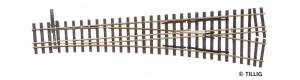 Tříkolejnicová výhybka úzkorozchodné tratě, pravá, H0/H0m, Tillig 85197